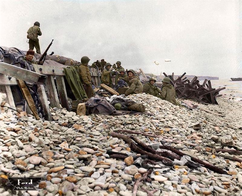 Stunning Normandy 1944 Photographs Brought In Color