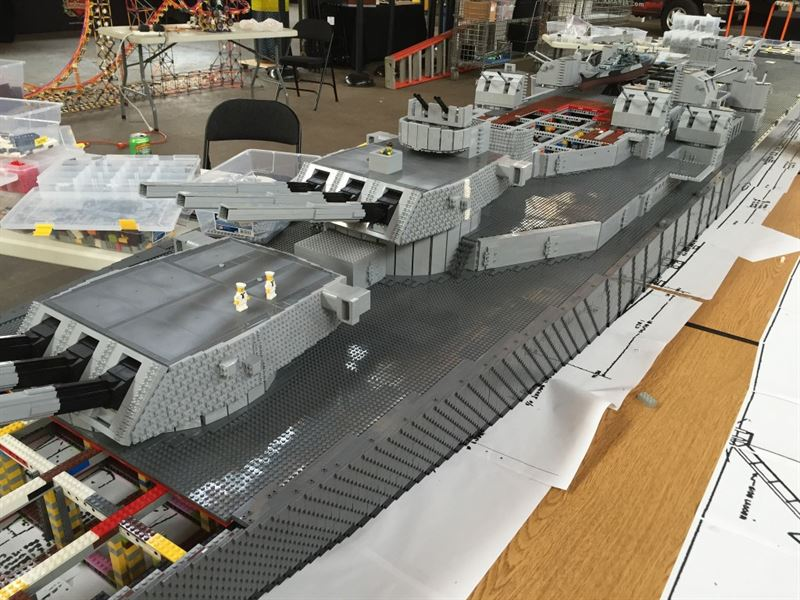 Uss Missouri The World S Largest Lego Wwii Battleship