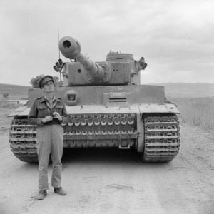 A captured German Tiger I tank, 18 May 1943.