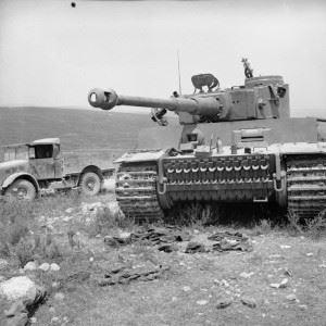 A captured German Tiger I tank, 6 May 1943.