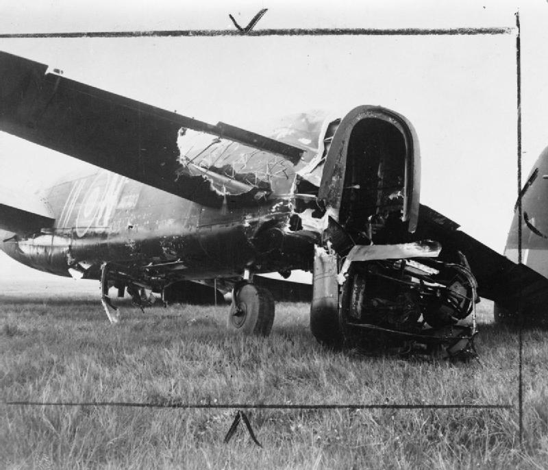 Badly Damaged Lancaster Is Brought Back Safely After Attack on Mailly Le Camp