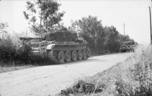 Cromwell tanks engage the enemy during the advance towards Aunay-sur-Odon, 31 July - 1 August 1944.