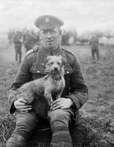 'Sammy', the mascot of the Northumberland Fusiliers, was gassed during the Second Battle of Ypres which began on 22 April 1915