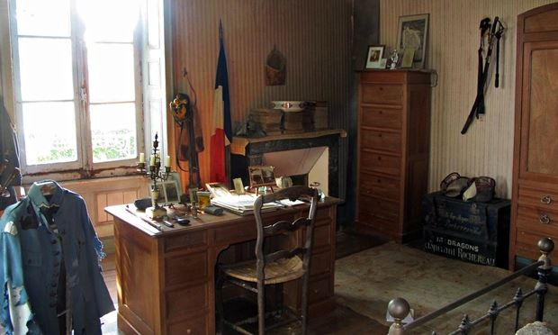 The soldier's desk. (Photograph: Bruno Mascle/ Photoshot)