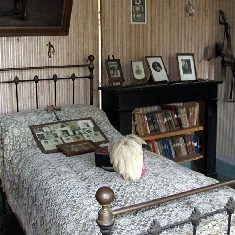 Hubert Rochereau's room in a house in Bélâbre, France. (Photograph: Bruno Mascle/ Photoshot)