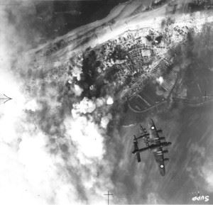 One of the last great RAF-raids together with RCAF and FAFL against germany. This raid was intended to knock out the coastal batteries on this Frisian island which controlled the approaches to the ports of Bremen and Wilhelmshaven.