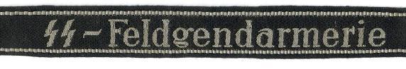 Waffen-SS Cufftitle for the Feldgendarmerie