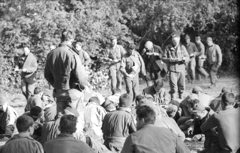 Captured British Soldiers in Oosterbeek, Arnhem - 1944.