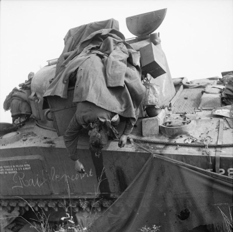 Squadron Sergeant Major William John Parkes of No. 3 Squadron, 2nd (Armoured) Irish Guards, killed when his Sherman tank was knocked out during the advance towards Eindhoven as part of Operation 'Market Garden