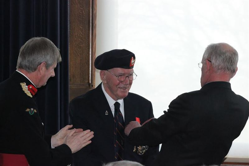 Mr Turner was presented the medal by Captain Francois Jean, consul honoraire of France on behalf of French president Francois Hollande (Credits: Diocese of Portsmouth)