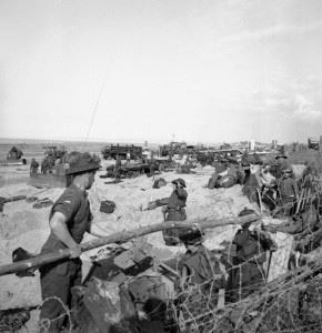 British troops on Sword Beach in Normandy