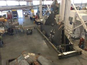 The Horten Ho 229 being restored at Steven F. Udvar-Hazy Center (Credits: Scott Bricker)