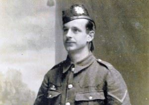 Lance Corporal John Sutherland, The Royal Scots. A teacher from Laurieston died in action in WWI.