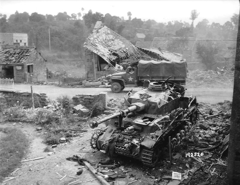 Panzerkampfwagen IV wreck in Normandy