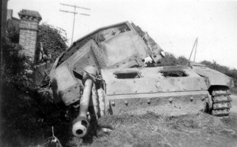 A StuG III destroyed in Normandy, 1944.