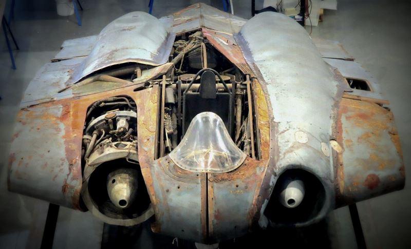 The Horten Ho 229 being restored at Steven F. Udvar-Hazy Center (Credits