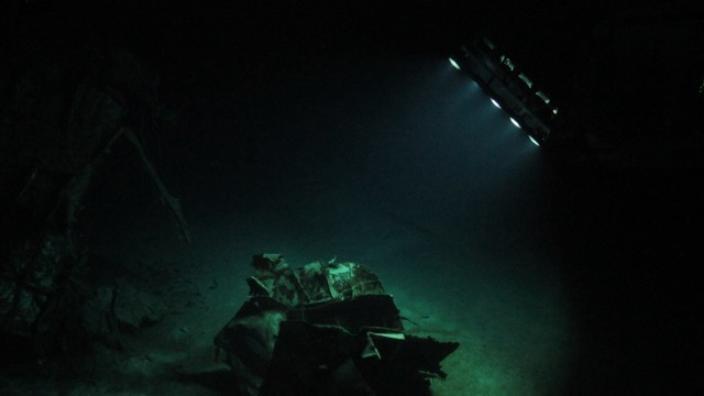 ROV captures wreck of HMAS Sydney (II) April 2015 (Credit: WA Museum and Curtin University)