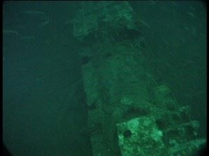 Damaged foredeck of U-155
