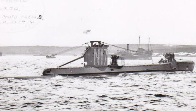 HMS Urge disappeared in April 1942. (Credit: Bridgend County Borough Council)
