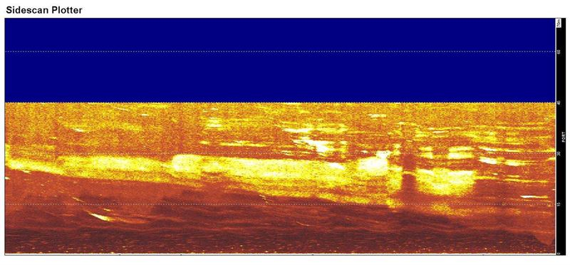 HMS Urge, Snapshot from Sonar Recording Marsa el Hilal, Libya, 2012. (Credit: Jean-Pierre Misson)