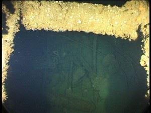 Inside the forward torpedo room of U-155