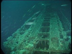 U-155: After deck facing conning tower