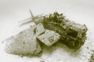 WWII Airplane Graveyard - Avenger aircraft wreck in Kwajalein Atoll (Credits: Brandi Mueller for Argunners)