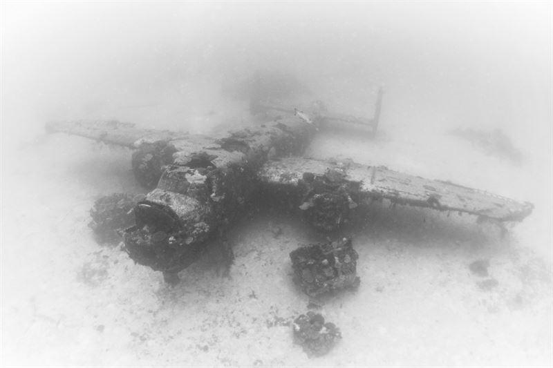 airplane graveyard of world war ii in pacific ocean