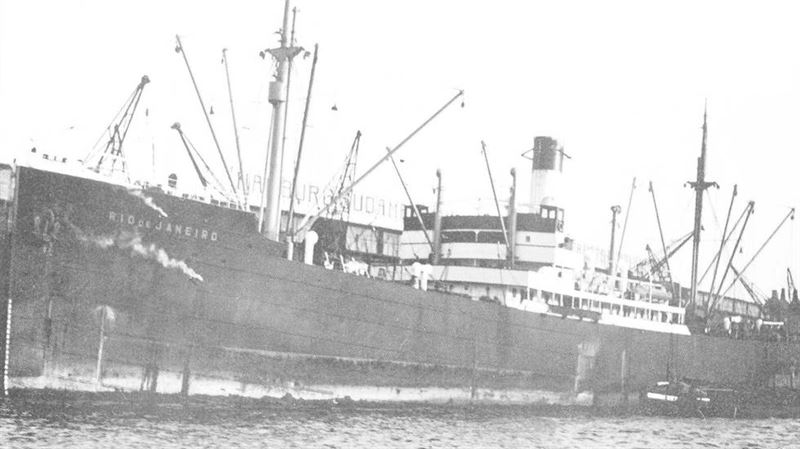 MS Rio de Janeiro sunk in 1940 was recently found at 135 m depth.