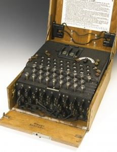 The German Enigma Cipher machine sold by Sotheby's. (Credits: Sotheby's)