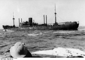 Hilfskreuzer Kormoran in 1940. (Credits: Bundesarchiv)