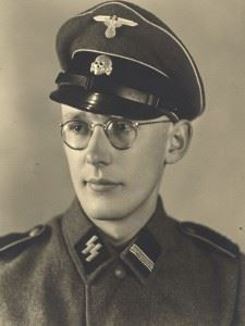Oskar Gröning in uniform as an SS-Rottenführer.