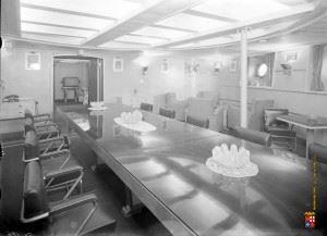 Seldom images of Battleship Roma's interior.