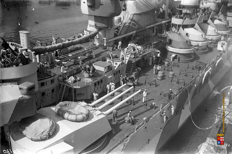 Seldom exterior images of Italy's WWII Battleship Roma