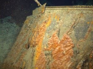 High resolution images taken by Curtin University on board DOF Subsea's vessel Skandi Protector clearly shows, for the first time, a 15cm shell hole through the bridge at the compass platform.