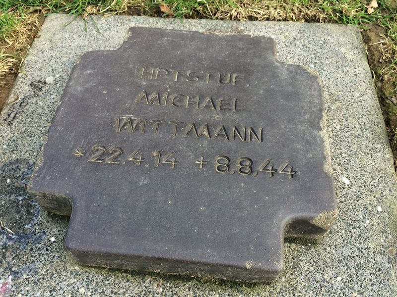 Photograph from Wittmann's grave on July 5, 2015.