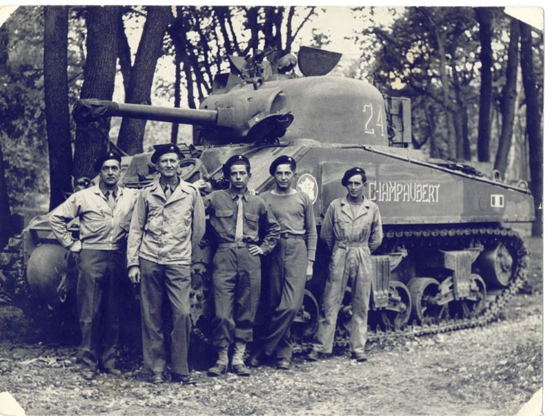"Sherman M4A4T ""Champaubert"" in August 44."
