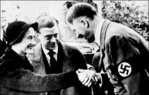 The Duke and Duchess with Adolf Hitler, 1937.