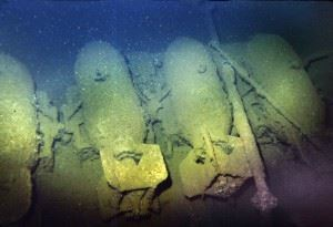 Wreck of the USS Saratoga - Bombs