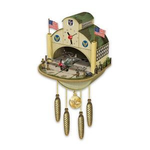 P-40 Flying Tiger Airplane Hangar WWII Tribute Wall Clock