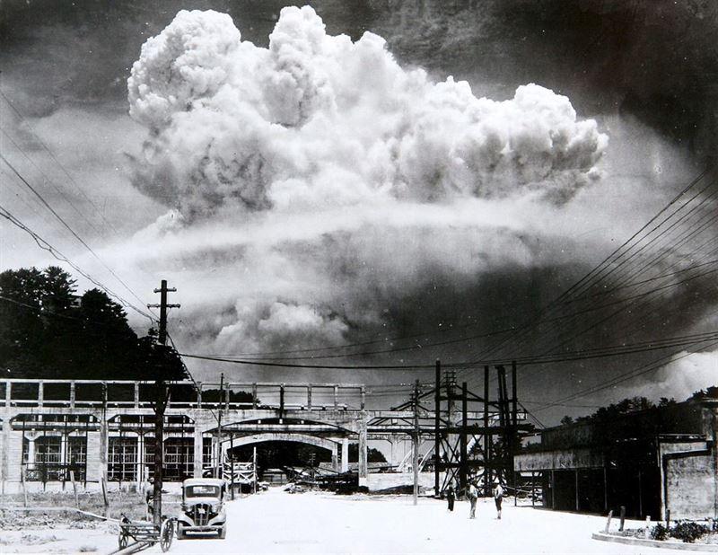 Atomic Cloud over Nagasaki. (Credits: Wikimedia Commons)