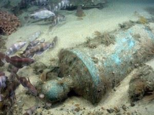 Bronze cannon of the HMS Victory. (Credits: Odyssey Marine Exploration)