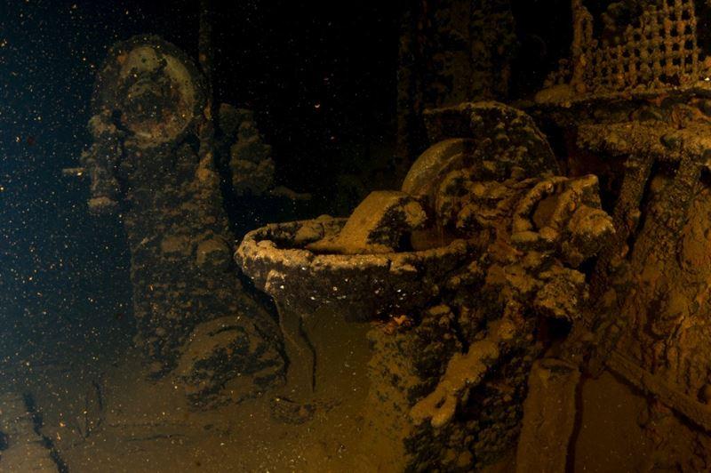 Inside the Fujikawa Maru (Credits: Brandi Mueller)