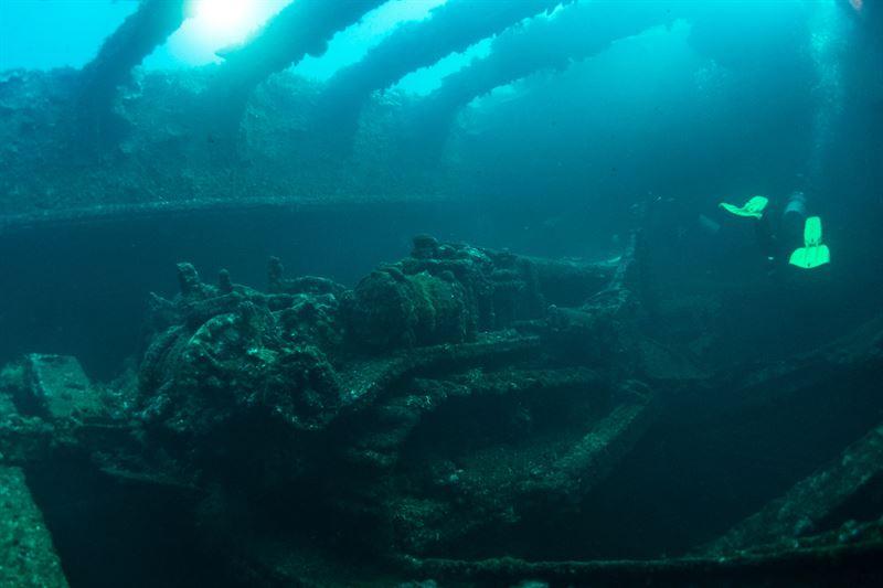 Hoki Maru Wreck in Truk Lagoon