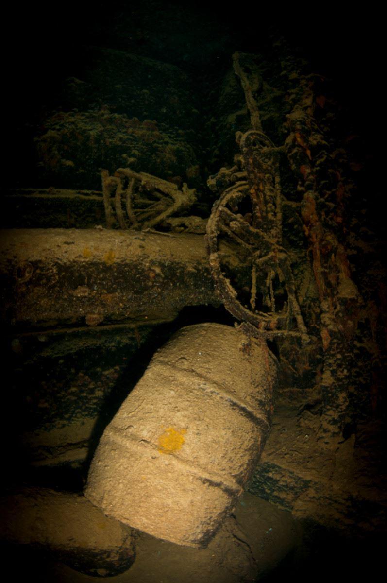 inside the Kiyosumi Maru. (Credits: Brandi Mueller)