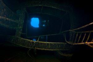 View from inside the Rio de Janeiro Maru. (Credits: Brandi Mueller)