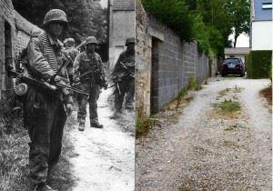 SS-Schütze Klaus Schuh and SS-Unterscharführer Koslowski, of SS-Panzergrenadier Regiment 25, 12. SS-Panzerdivision 'Hitlerjugend' after the fierce fightings in Norrey-en-Bessin. Rots, northwest at Caen, Normandy. 9 June 1944.