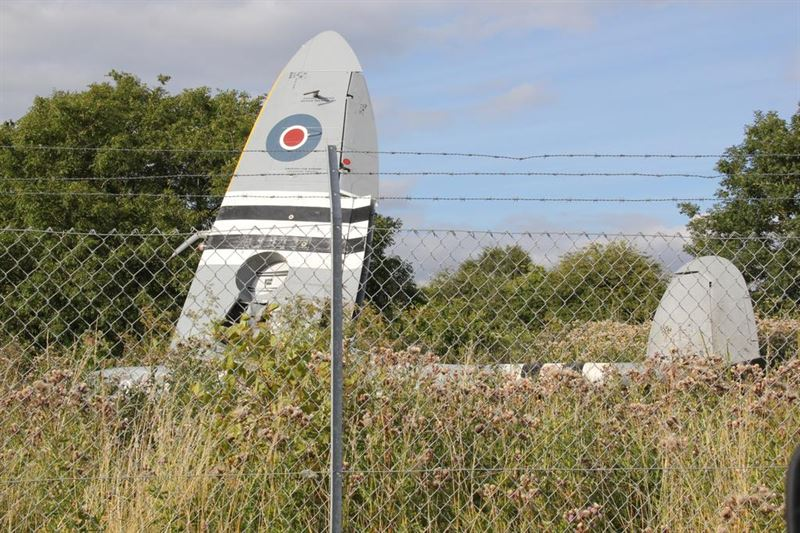 WWII Spitfire crashed at Biggin Hill. (Credits: Twitter @ KhurramFarooq)