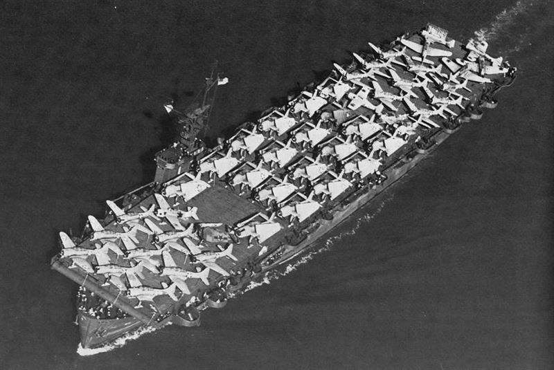 The USS Liscome Bay (CVE-56) sank in November 1943 taken down 644 men with her, becoming the costliest carrier in terms of lives. (Credits: U.S. Navy)