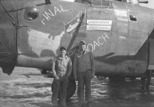 "B-24H serial 42-52457 ""Final Approach"" (coded 7V-Q) of the 752nd Bomb Sq, 458th BG at Horsham St. Faith (AAF Station 123), UK. She went lost on April 9, 1944. All of her crew was taken POW except for one, who was Killed in Action."